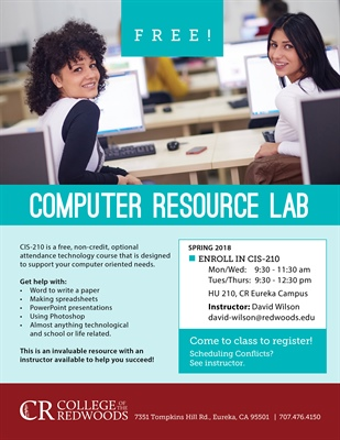 CR Offers Free Computer Resource Lab