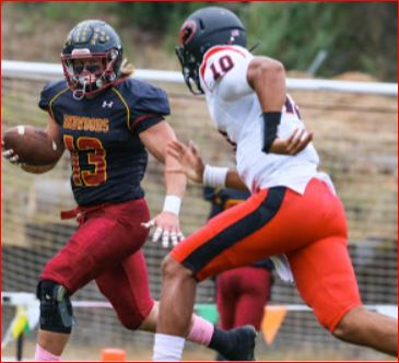 College of the Redwoods Football season opener Saturday at HSU Redwood Bowl