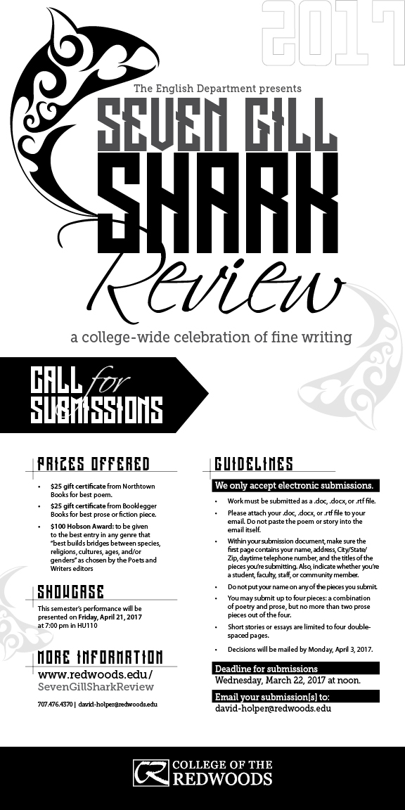 College of the Redwoods literary magazine accepting submissions