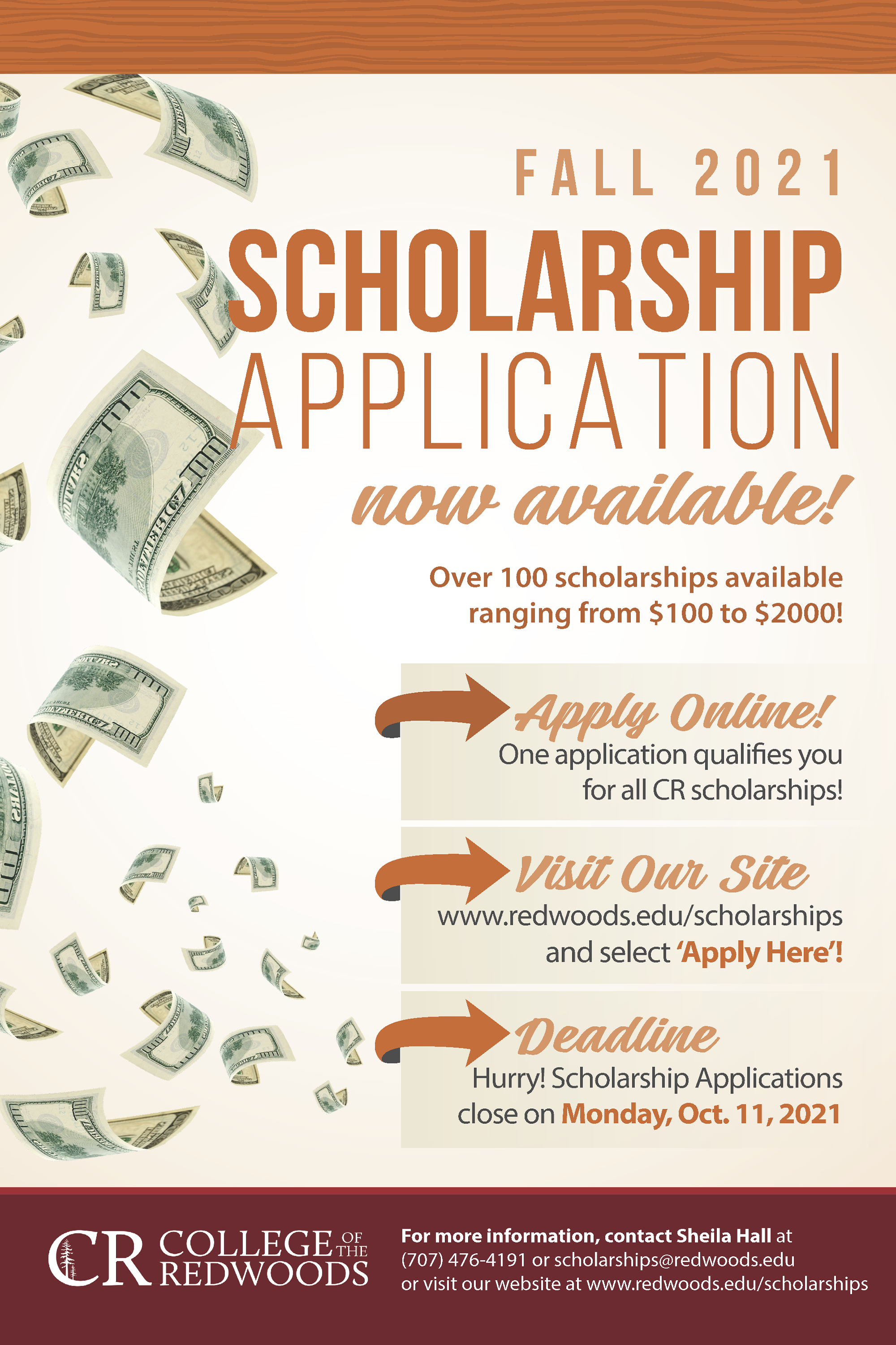 Fall 2021 Scholarship Application available now