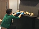 Congratulations to Professor Cindy Hooper--The Native American Baskets Are Being Installed