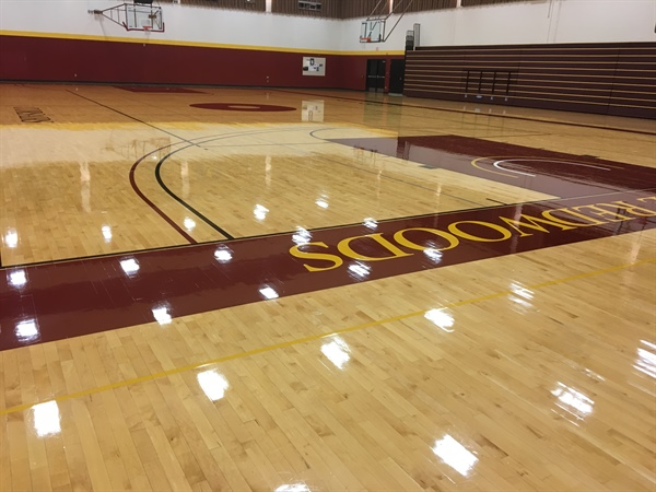 Resurfaced Gym Floor for the Eureka Campus!