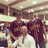 Coach Morgan and a couple baseball players